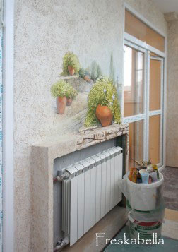 Фреска на балконе фото. - остекление - каталог статей - ремо.